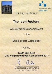 AWARD for the best shop front category