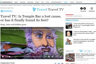 TRAVEL TV - Is Temple Bar a lost cause, or has it finally found it's feet ?